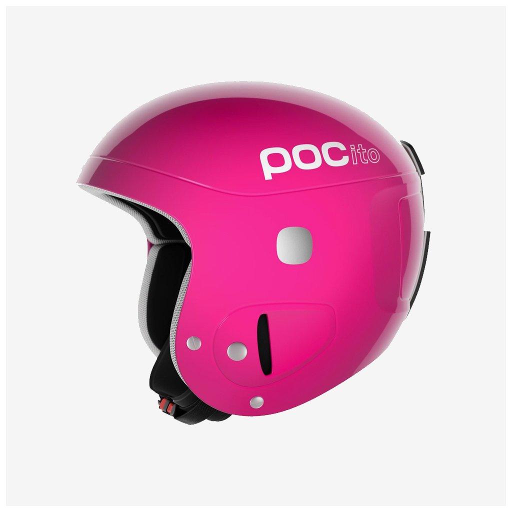 Dětská lyžařská helma POCito Skull - Růžová