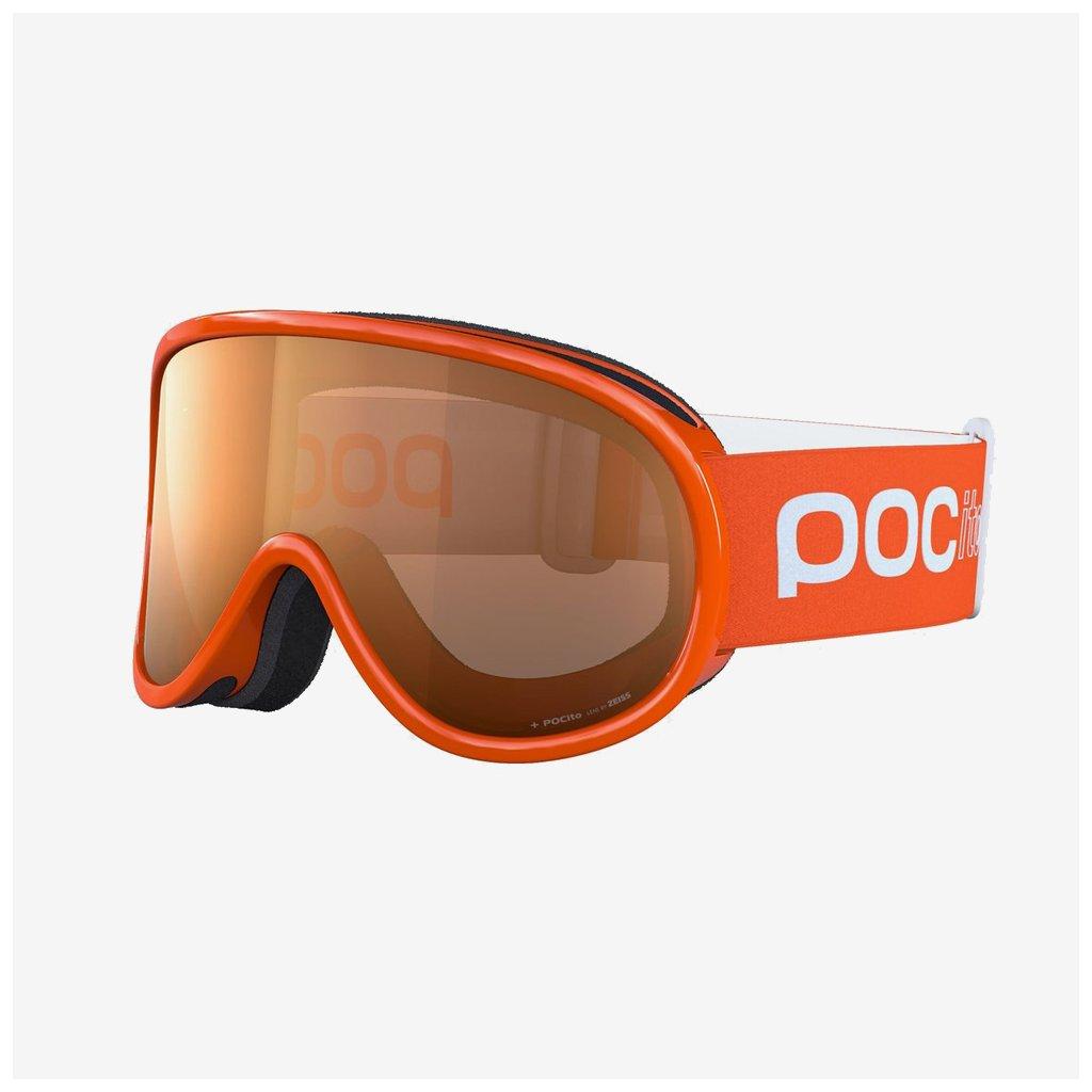 Dětské lyžařské brýle POCito Retina - Oranžové