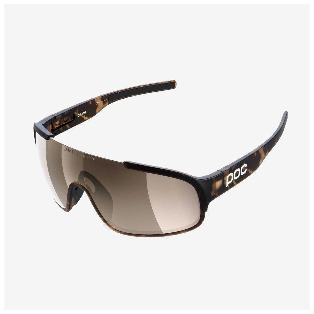 Cyklistické brýle POC Crave - hnědé
