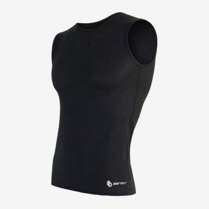 Pánské tričko Coolmax Air bez rukávů - černé