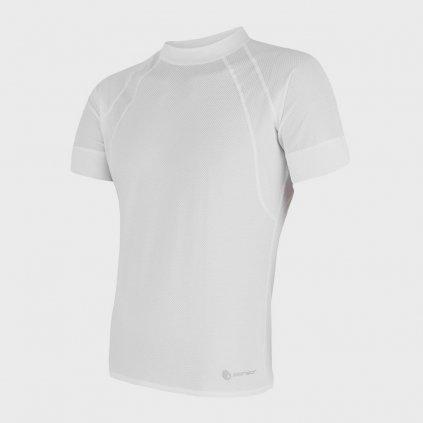 Pánské tričko Coolmax Air 1/2- bílé