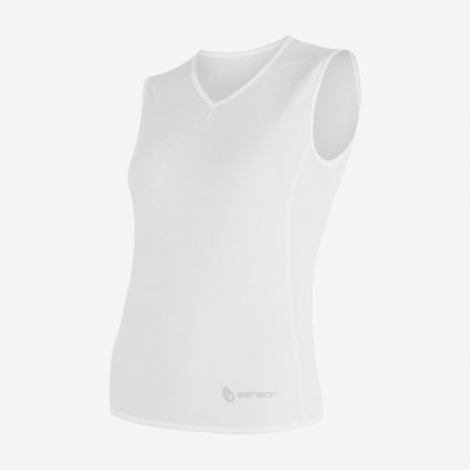 Dámské tričko Coolmax Air bez rukávu - bílé