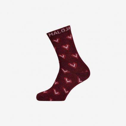 Ponožky JudithaM -  červené