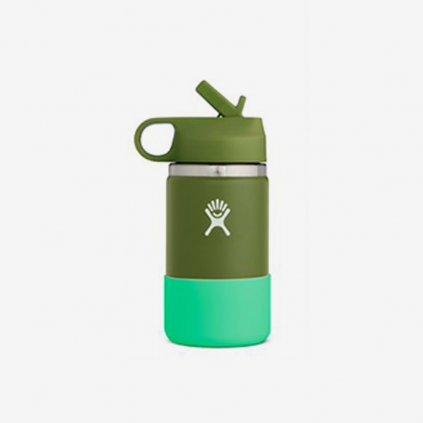 Láhev Hydro Flask Wide Mouth Straw Lid - tmavě zelená