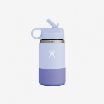 Láhev Hydro Flask Wide Mouth Straw Lid - bílošedá