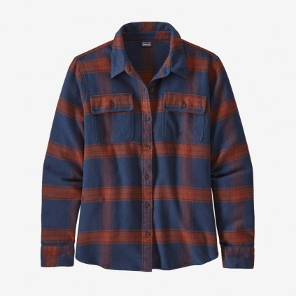 Dámská košile L/S Fjord Flannel - modrá