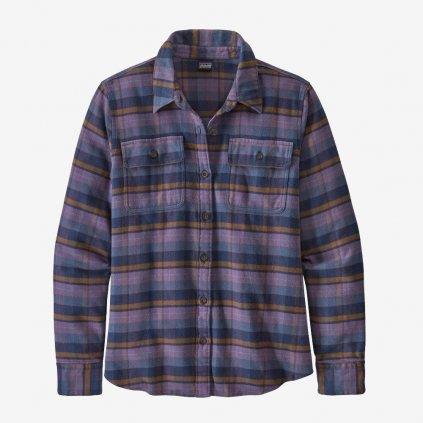 Dámská košile L/S Fjord Flannel - fialová