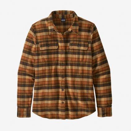 Dámská košile L/S Fjord Flannel - hnědá