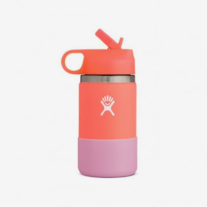 Láhev Hydro Flask Wide Mouth Straw Lid - Hibiscus