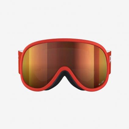 Lyžařské brýle POC Retina Clarity - Červené/Oranžové sklo