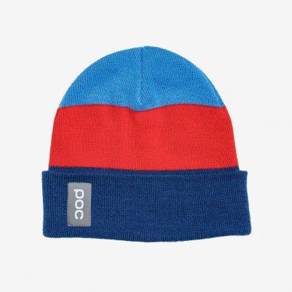 Čepice POC Stripe Beanie - Modročervená