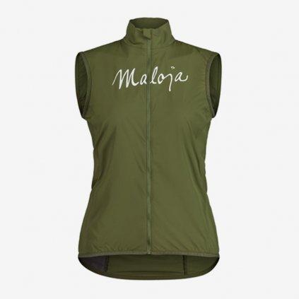 Dámská cyklistická vesta Maloja AdlerfarnM - zelená