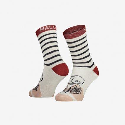 Ponožky Maloja CarnationM - červené
