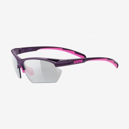 Cyklistické brýle UVEX Sportstyle  802 SMALL VARIO - růžové