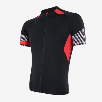 SENSOR CYKLO RACE pánský dres kr.rukáv - černočervený