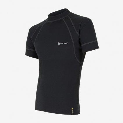 SENSOR DOUBLE FACE pánské tričko kr.rukáv  - černé