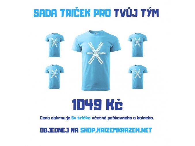 Sada triček - 5 ks