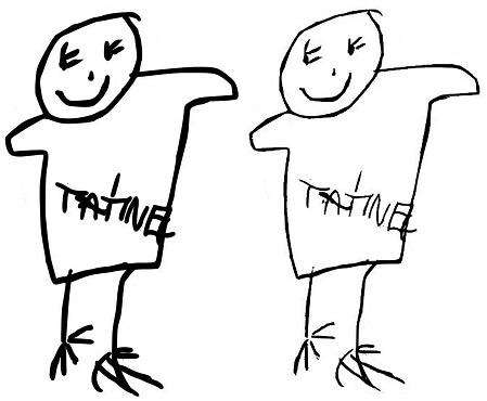 Dětská kresba na peněžence jako dárek tatínkovi