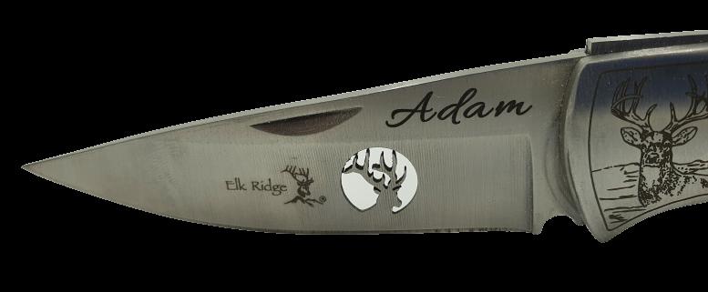 Nůž s gravírováním