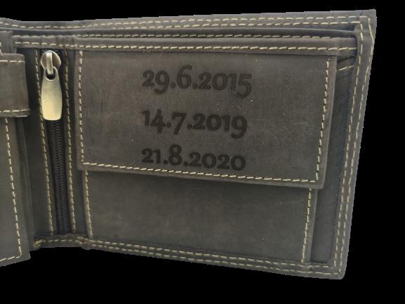 Peněženka s věnováním