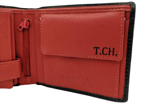 monogram na přání do peněženky