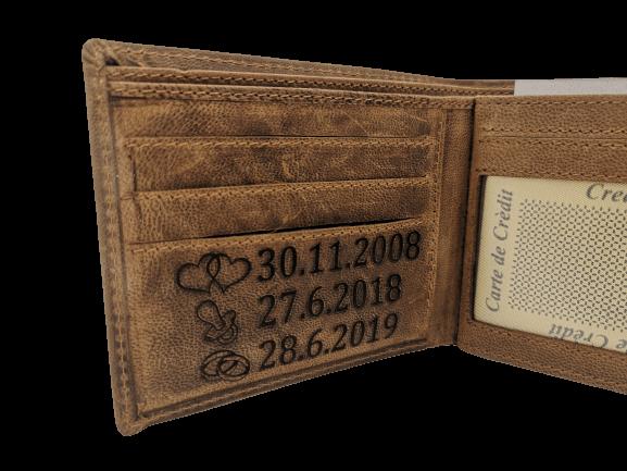 Gravírovaná peněženka
