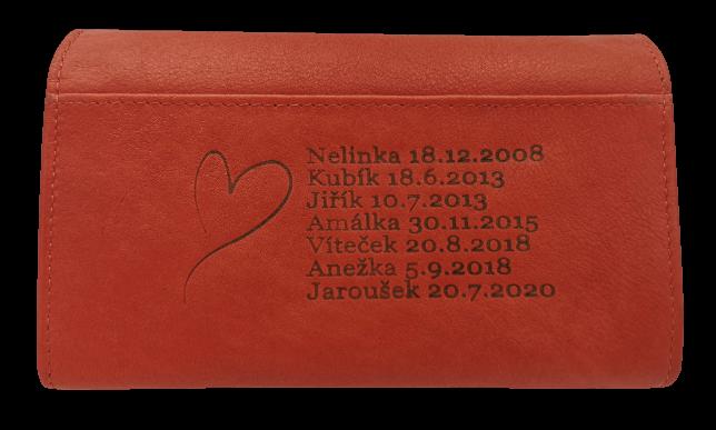Dámská peněženka s gravírováním