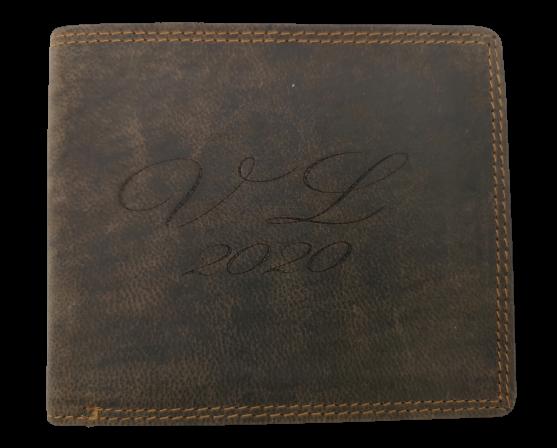 Peněženka s nápisem