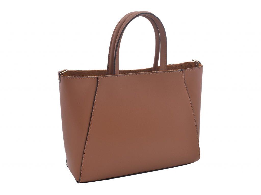 Dámská kožená kabelka Klára (Barva Žlutá)