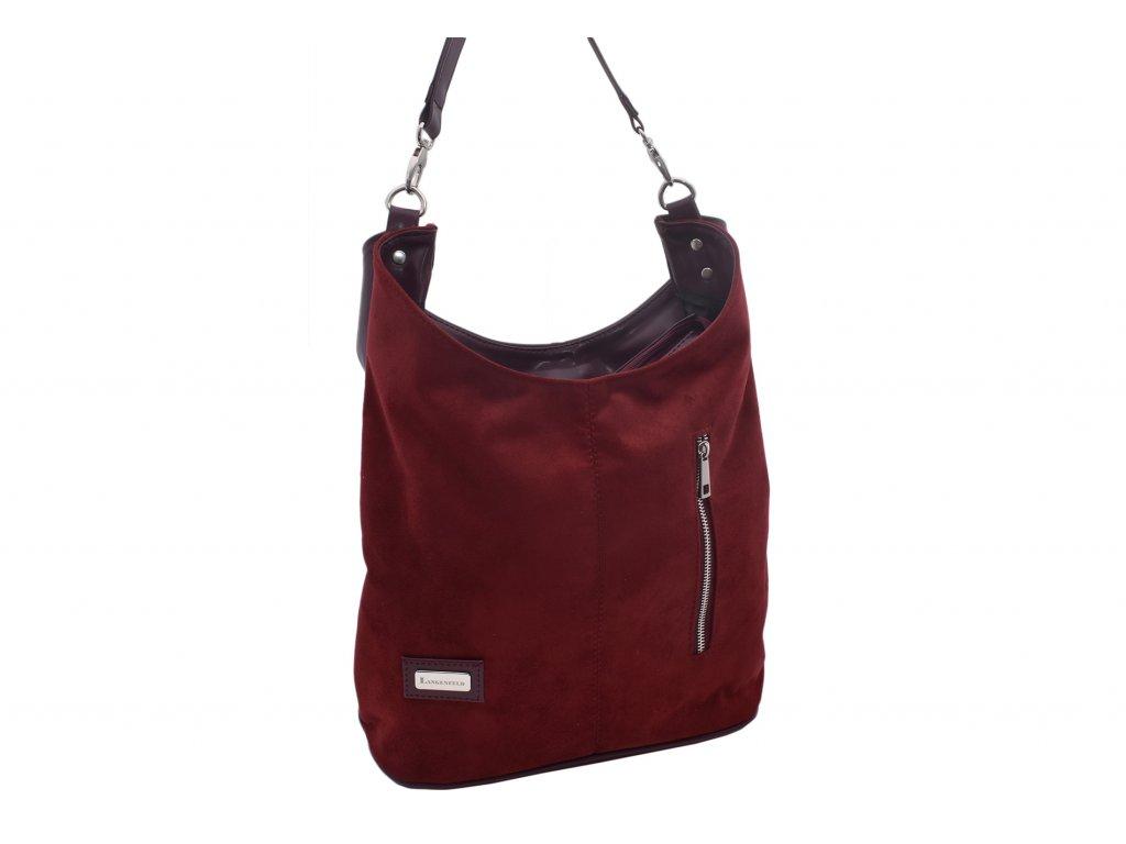 Dámská klasická kabelka Denisa (Barva Červená)