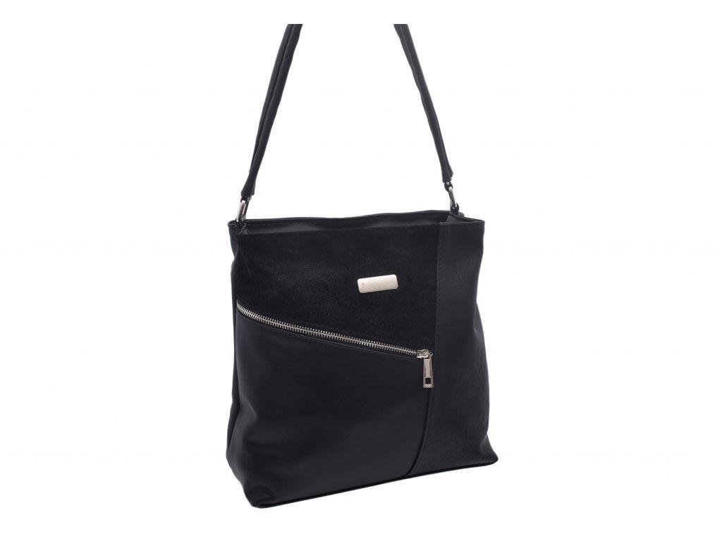 Dámská klasická kabelka Simona (Barva Černá)