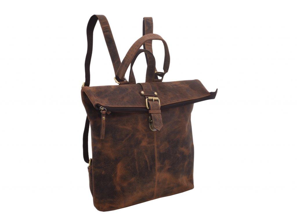 Dámský kožený batůžek