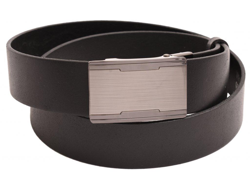 Pánský kožený opasek černý k obleku