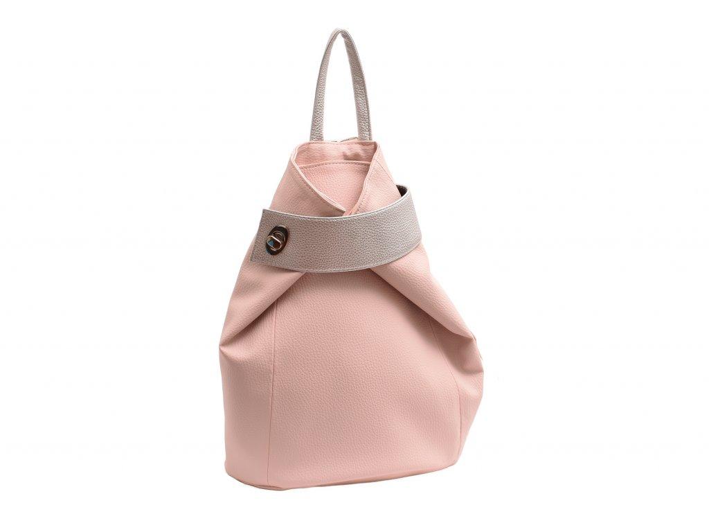 Dámský koženkový batůžek Iva (Barva Bílá)
