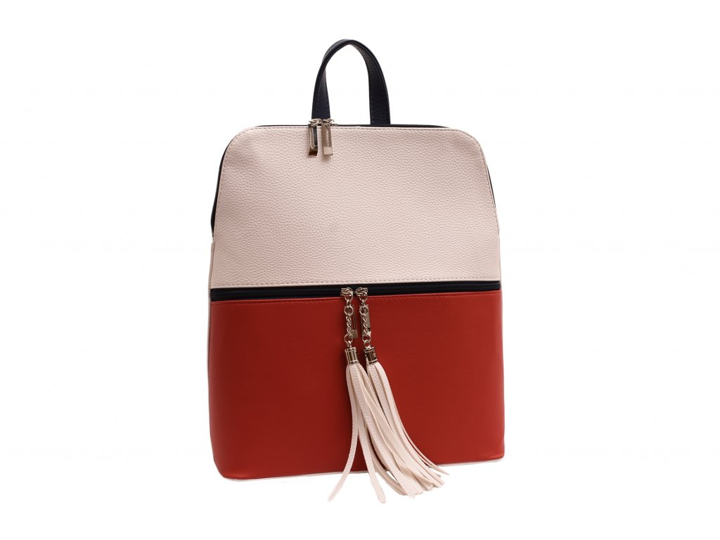 Dámský koženkový batůžek Stela (Barva Růžová)