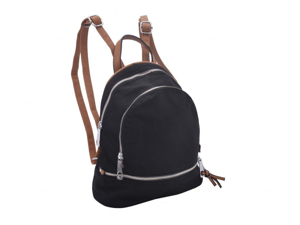 Dámský textilní batůžek Ema (Barva Černá)