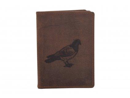 Dokladovka  motiv holub (Barva Hnědá)