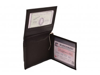 Pánská kožená peněženka - dolarovka černá