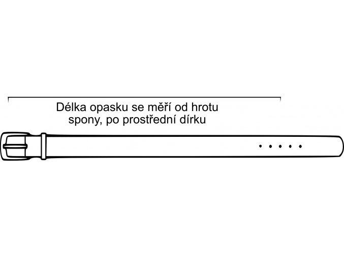 Pánský kožený opasek Arad