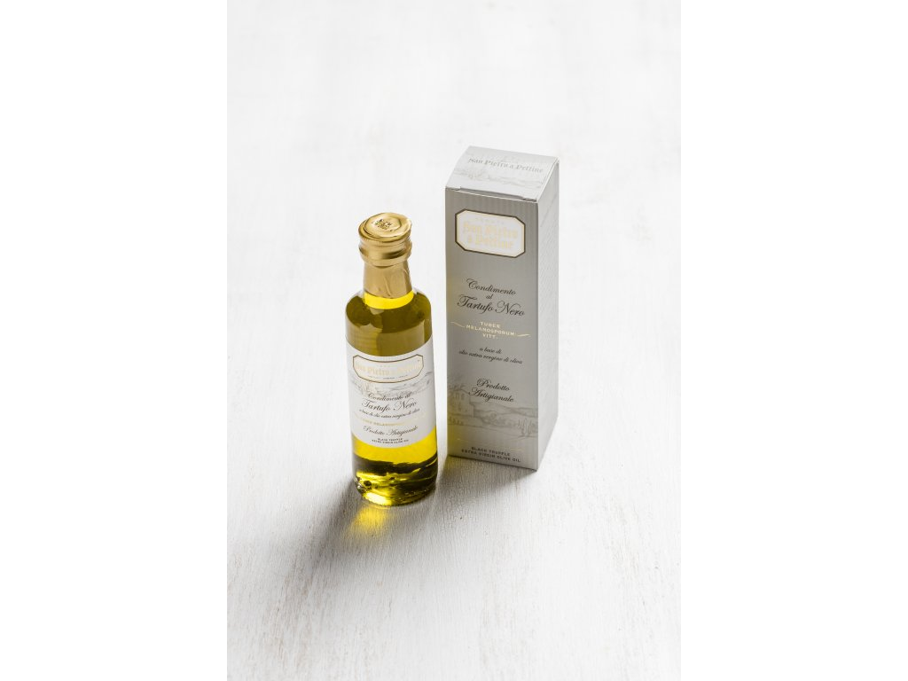 Panenský olivový olej s příchutí černých lanýžů San Pietro