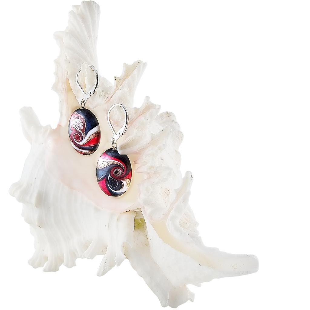 Náušnice Mayan Love z perel Lampglas