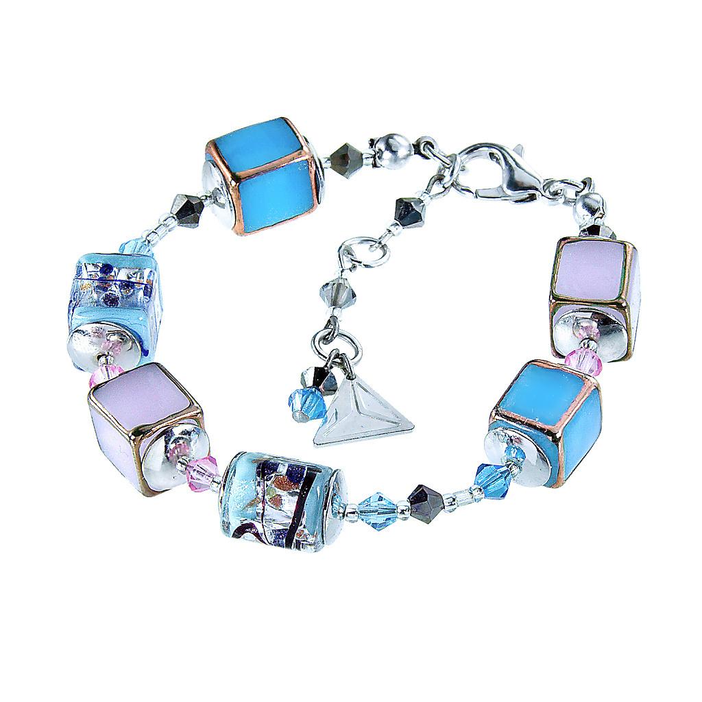 Náramek Crystal Spring z perel Lampglas