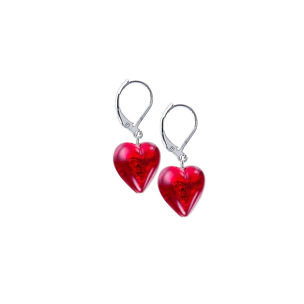 Náušnice Pure Love s 24karátovým zlatem v perlách Lampglas