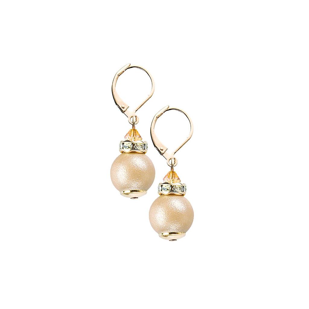 Náušnice Warm Touch z perel Lampglas