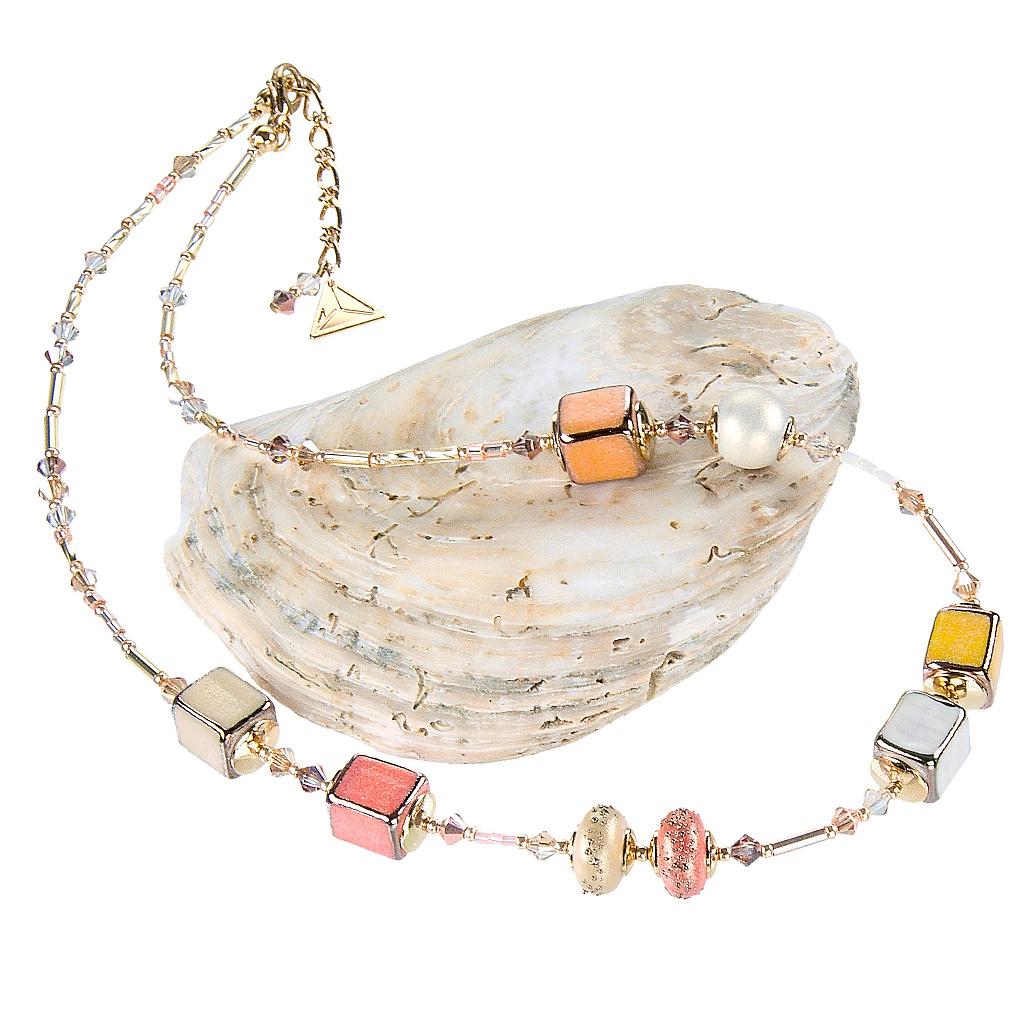 Náhrdelník Summer Romance z perel Lampglas