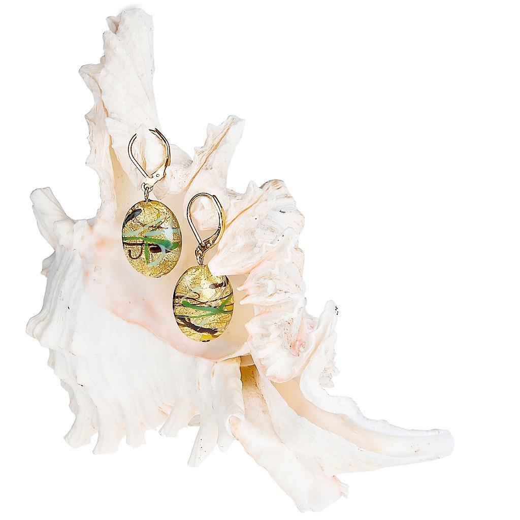 393 nausnice z lampovych perel lampglas green alchemy