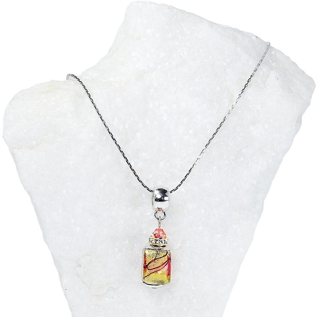 486 1 damsky nahrdelnik sunset fairy z lampovych perel lampglas