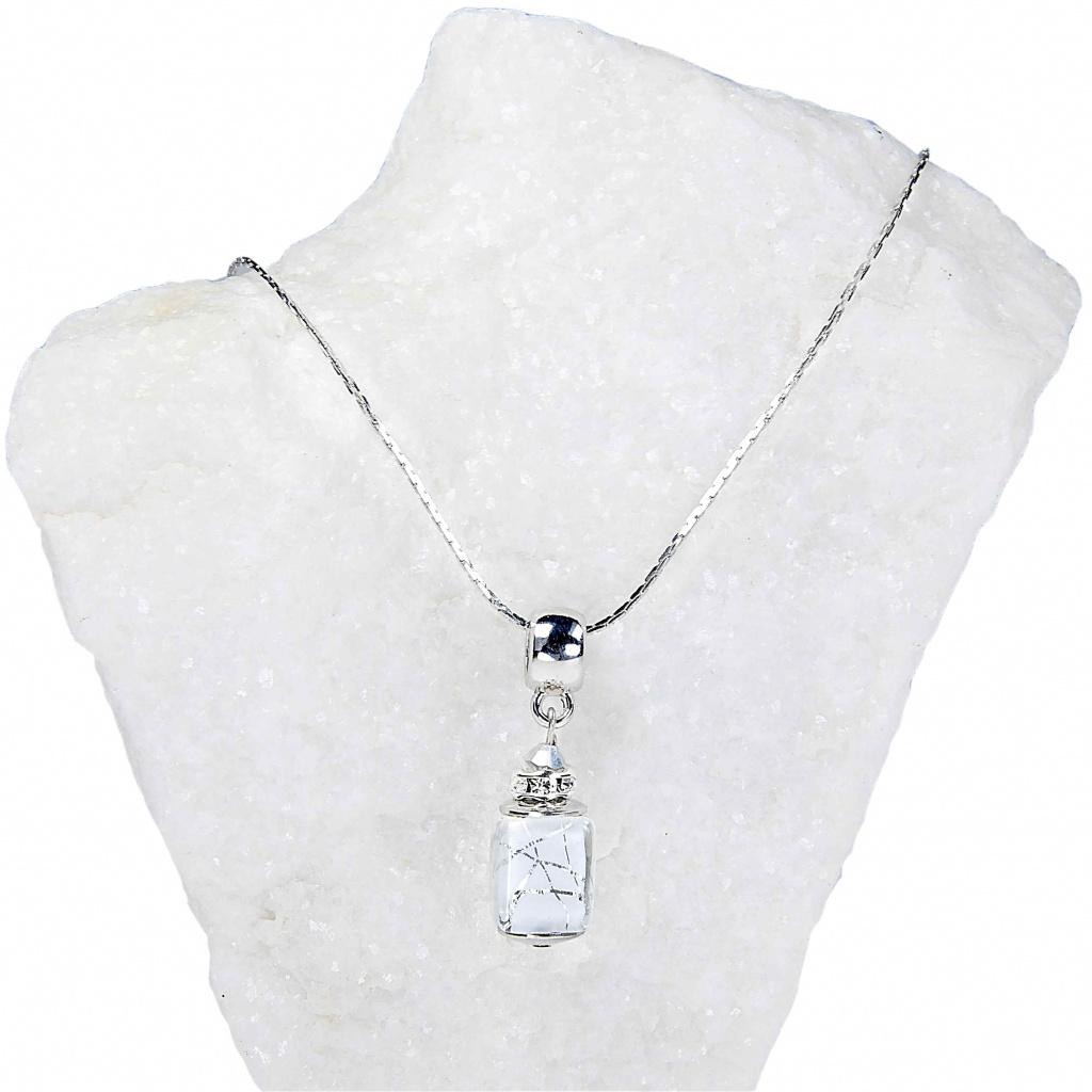 489 1 damsky nahrdelnik snow white z lampovych perel lampglas