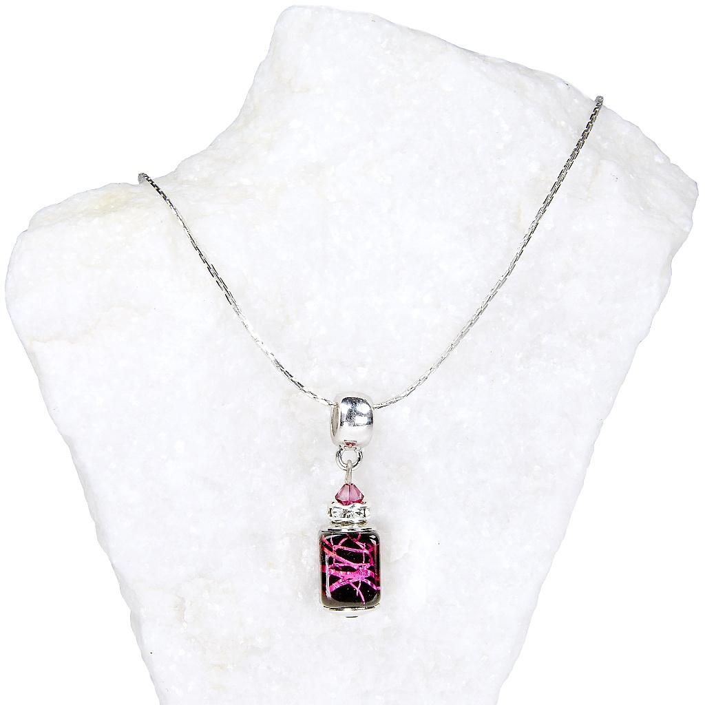 Dámský náhrdelník Royal passion z lampových perel Lampglas