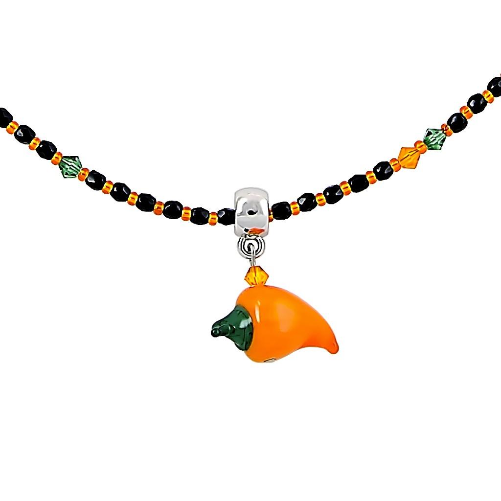 Veselý náhrdelník Cheerful Pepper s perlou Lampglas